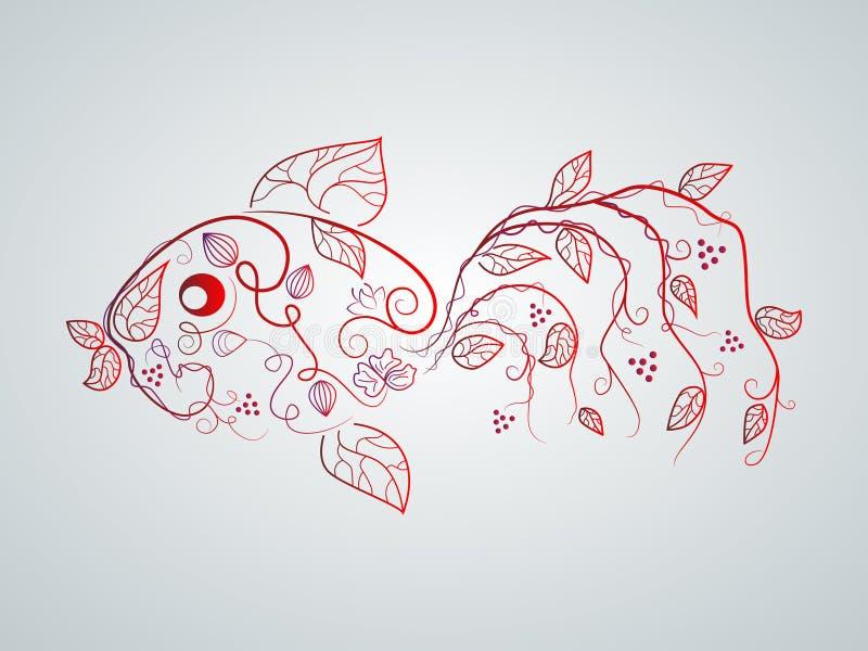 Pescados del vector ilustración del vector