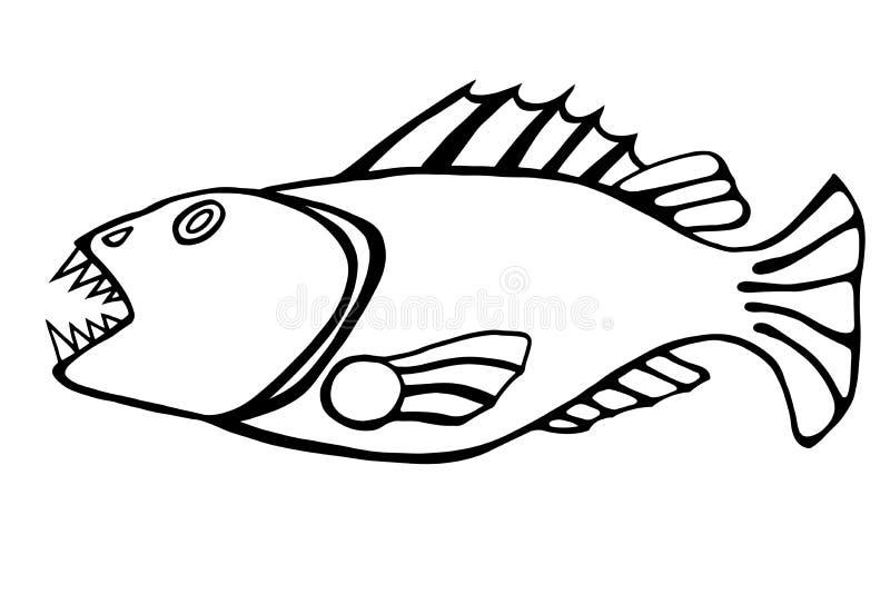 Pescados dentudos ilustración del vector