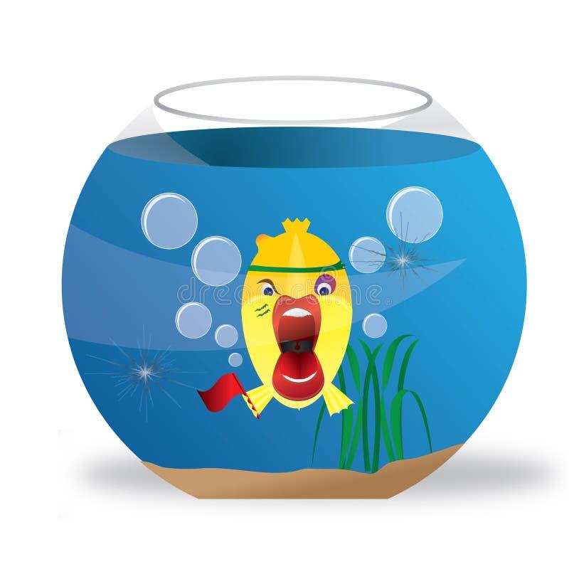 Pescados en acuario stock de ilustración