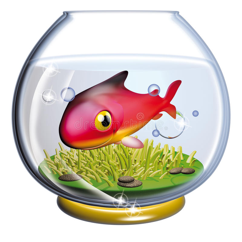 Pescados en el fishbowl ilustración del vector