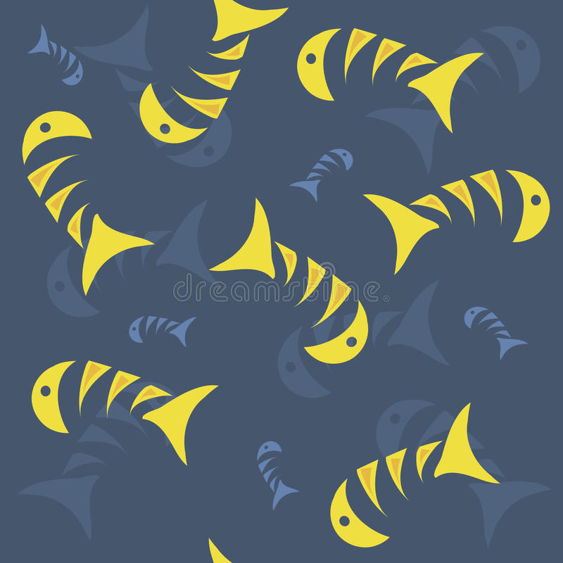 Pescados en el mar libre illustration