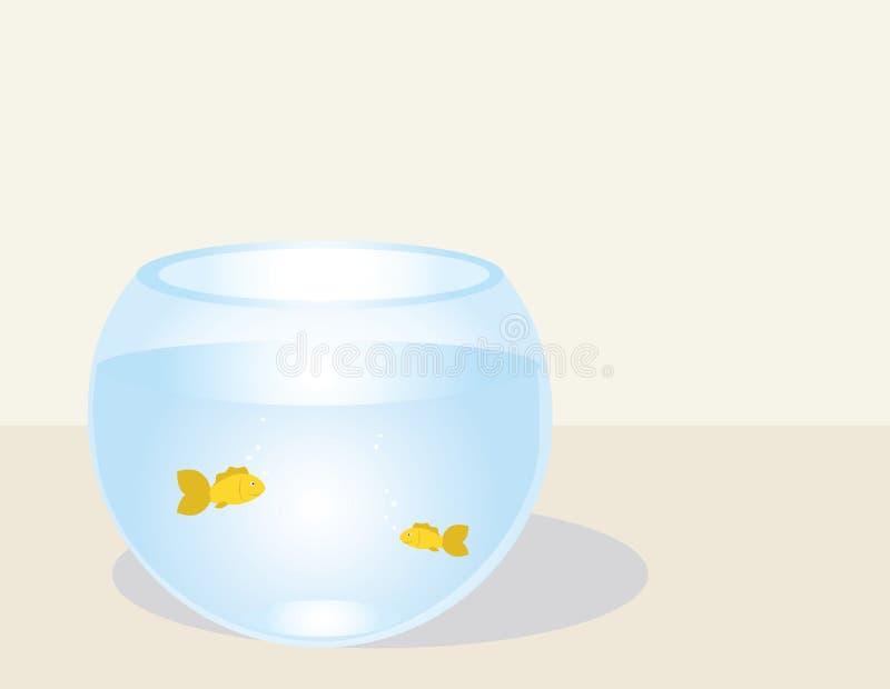 Pescados en un fishbowl stock de ilustración