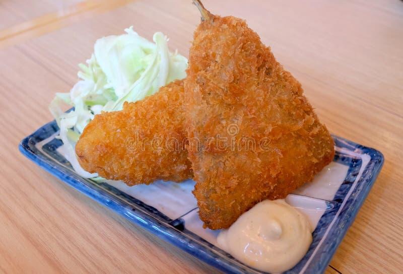 Pescados fritos, comida japonesa imagen de archivo libre de regalías