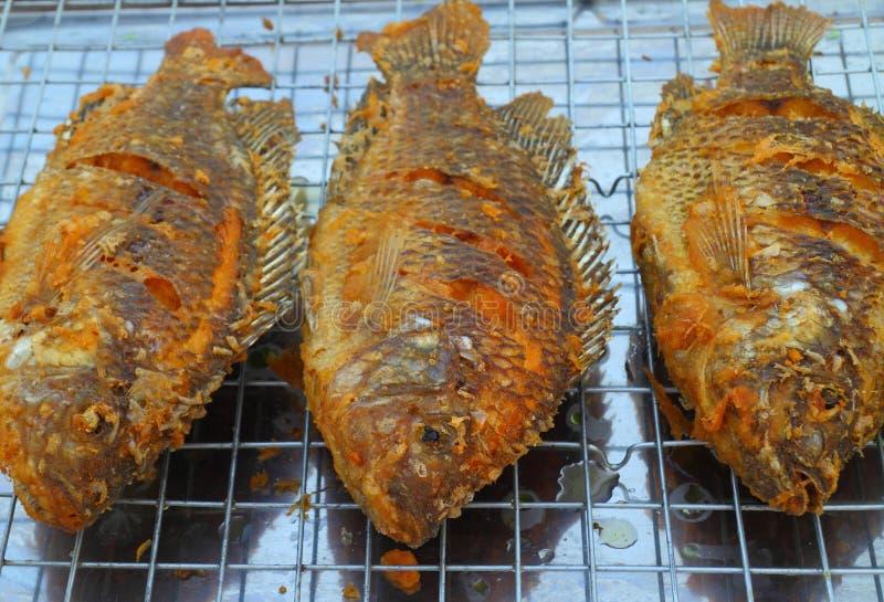 Pescados fritos de la Tilapia imágenes de archivo libres de regalías