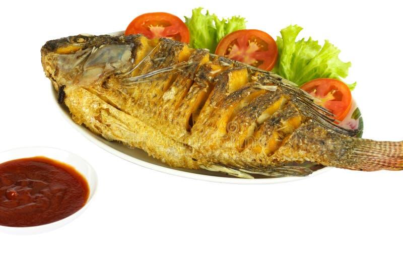 Pescados fritos de la Tilapia fotografía de archivo libre de regalías