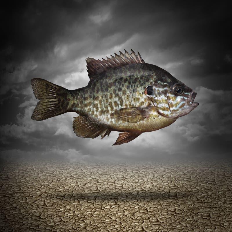 Pescados fuera del agua ilustración del vector