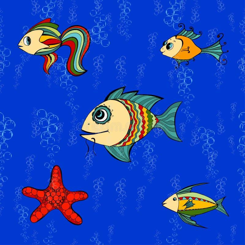 Pescados inconsútiles ilustración del vector