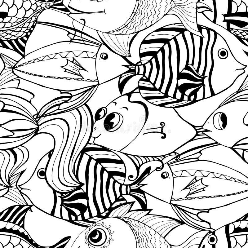 Pescados inconsútiles stock de ilustración