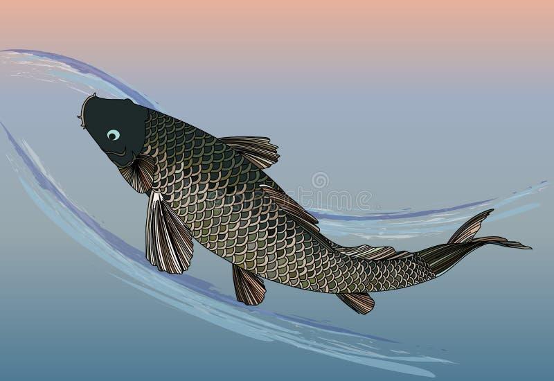 Pescados japoneses stock de ilustración