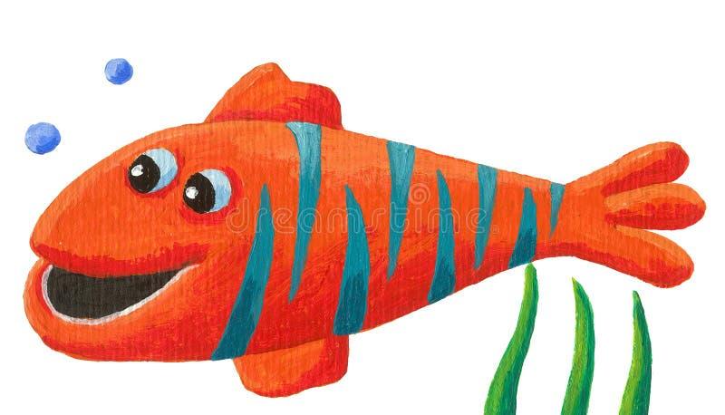 Pescados rayados divertidos libre illustration