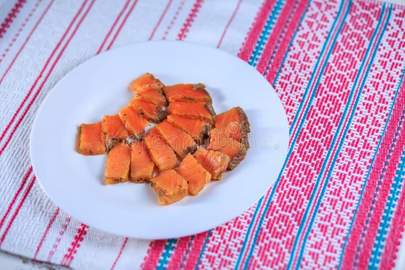 Pescados salados rojos foto de archivo