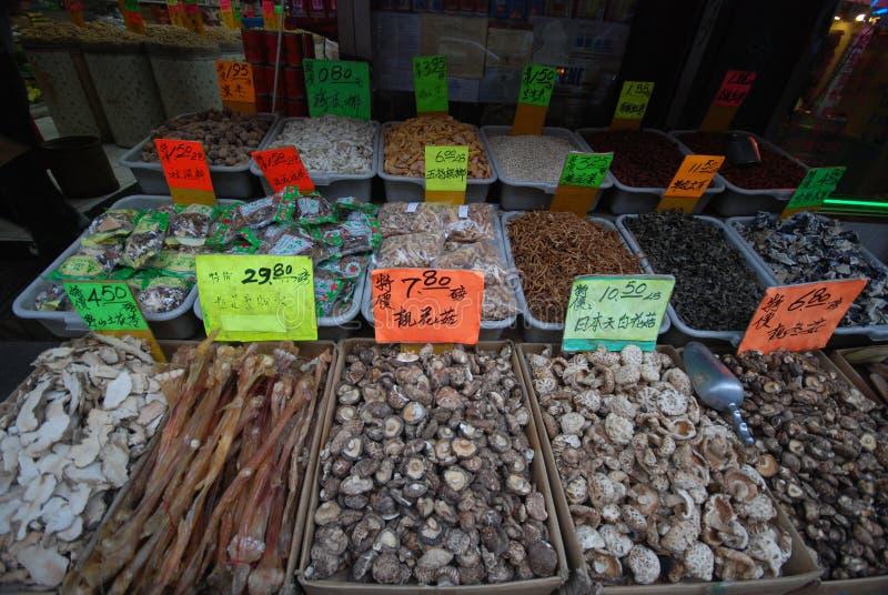 Pescados secos - ciudad de China imagen de archivo