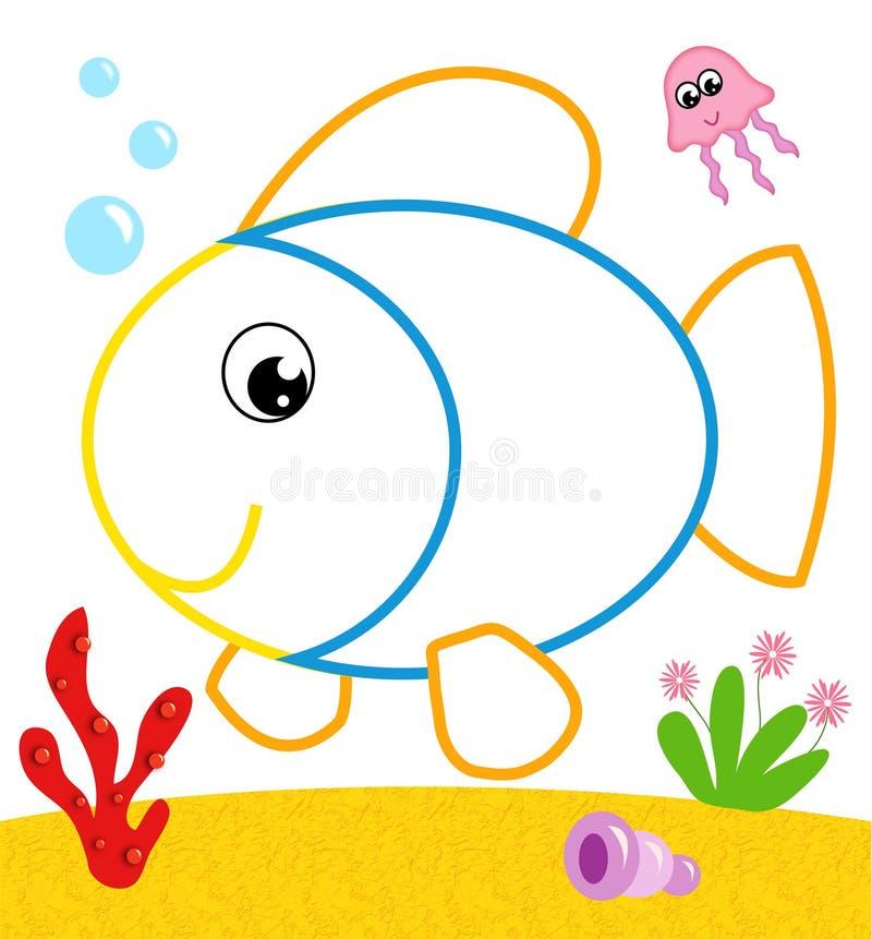 Pescados a ser color imagen de archivo libre de regalías