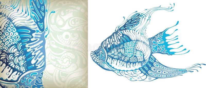 Pescados tropicales stock de ilustración