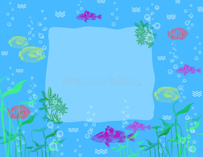Pescados tropicales - fondo. libre illustration
