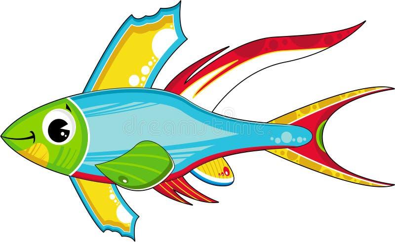 Pescados tropicales lindos stock de ilustración