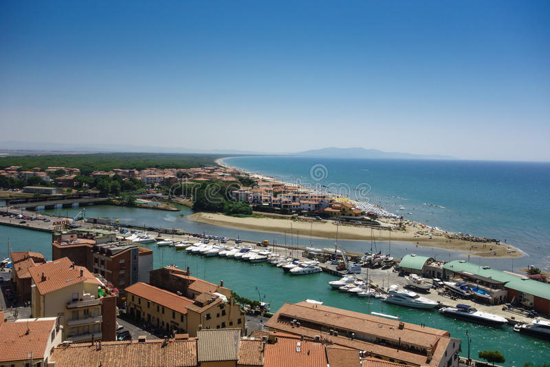 Pescaia della Castiglione, Тоскана, Италия стоковое изображение rf