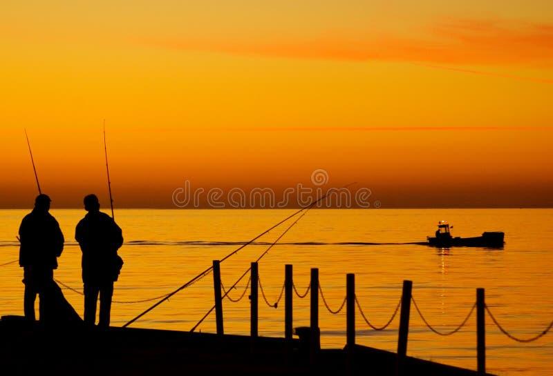 Pescando al mare di Balitc fotografia stock