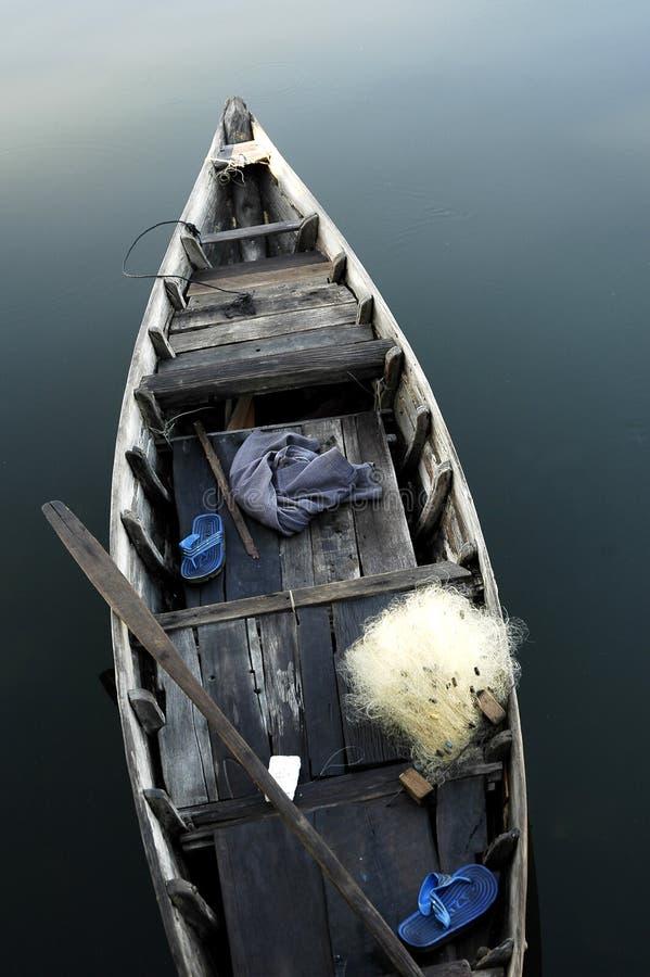 Pescando a casca em Hoi fotos de stock royalty free