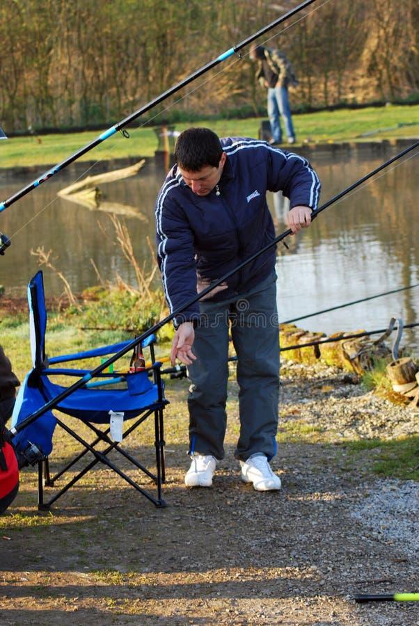 Pescando in editoriale del Belgio immagine stock libera da diritti