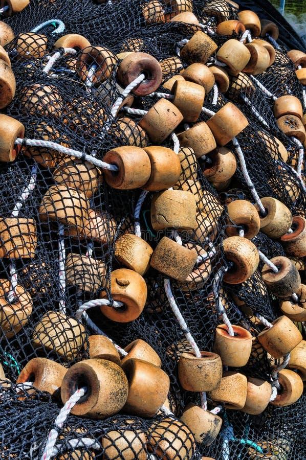 Pescando flutuadores e redes foto de stock royalty free
