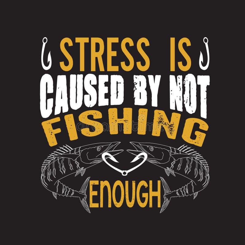Pescando la cita y decir buenos para el dise?o de la impresi?n stock de ilustración