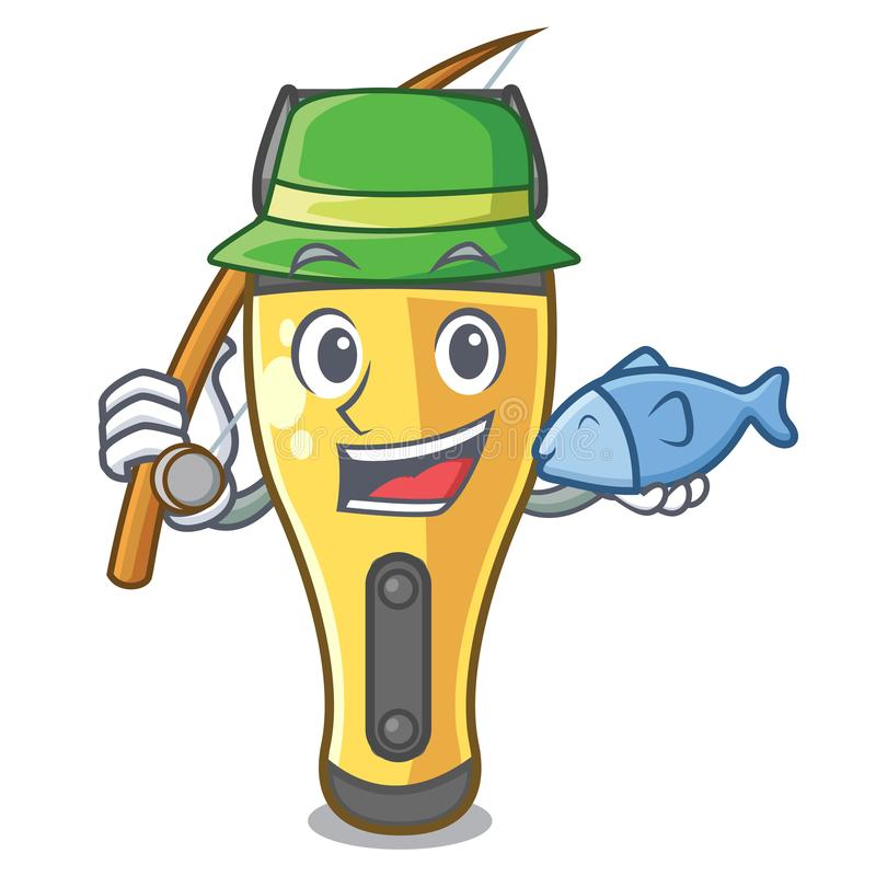Pescando la máquina de afeitar eléctrica aislada con en la mascota stock de ilustración