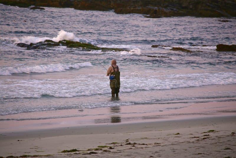 Pescando in Maine fotografia stock