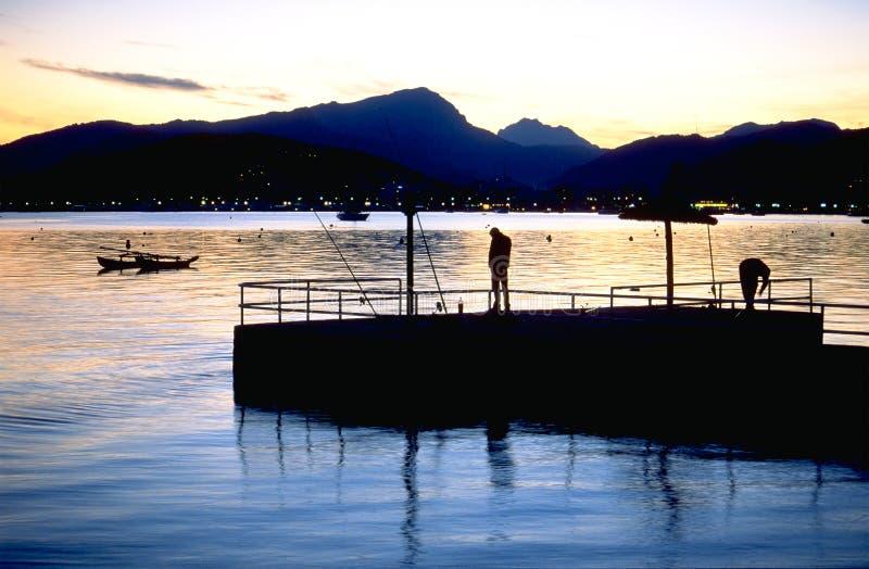 Pescando in Mallorca fotografia stock libera da diritti