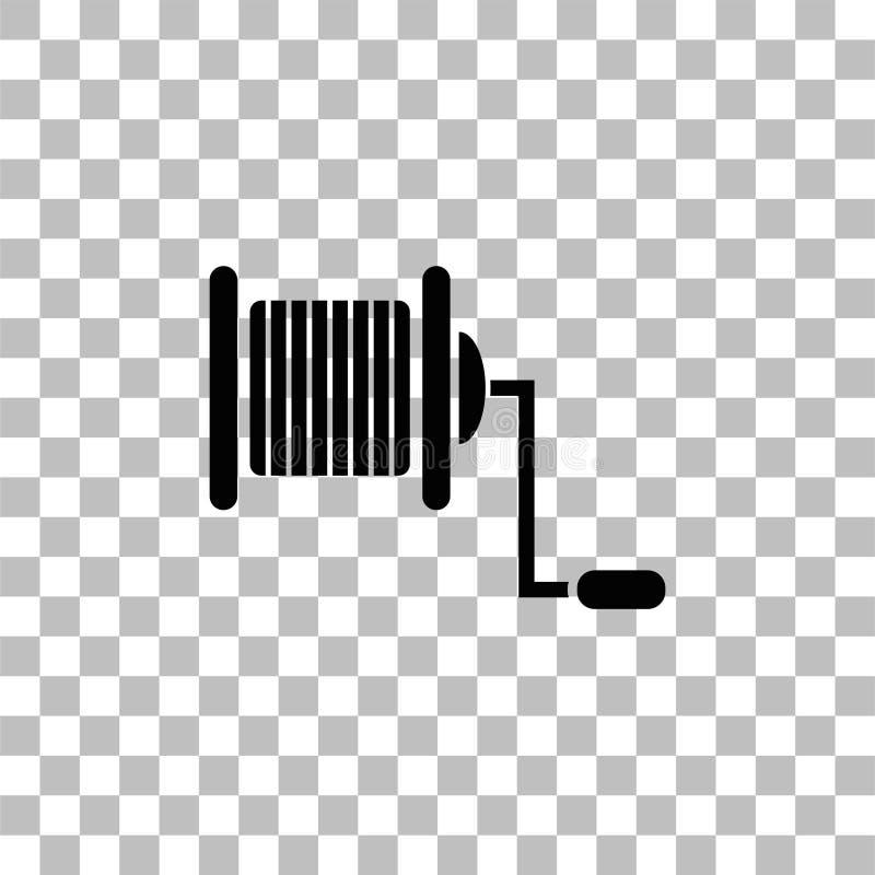 Pescando o ?cone do carretel horizontalmente ilustração stock