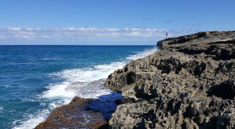 Pescando o estilo havaiano dos contos foto de stock royalty free