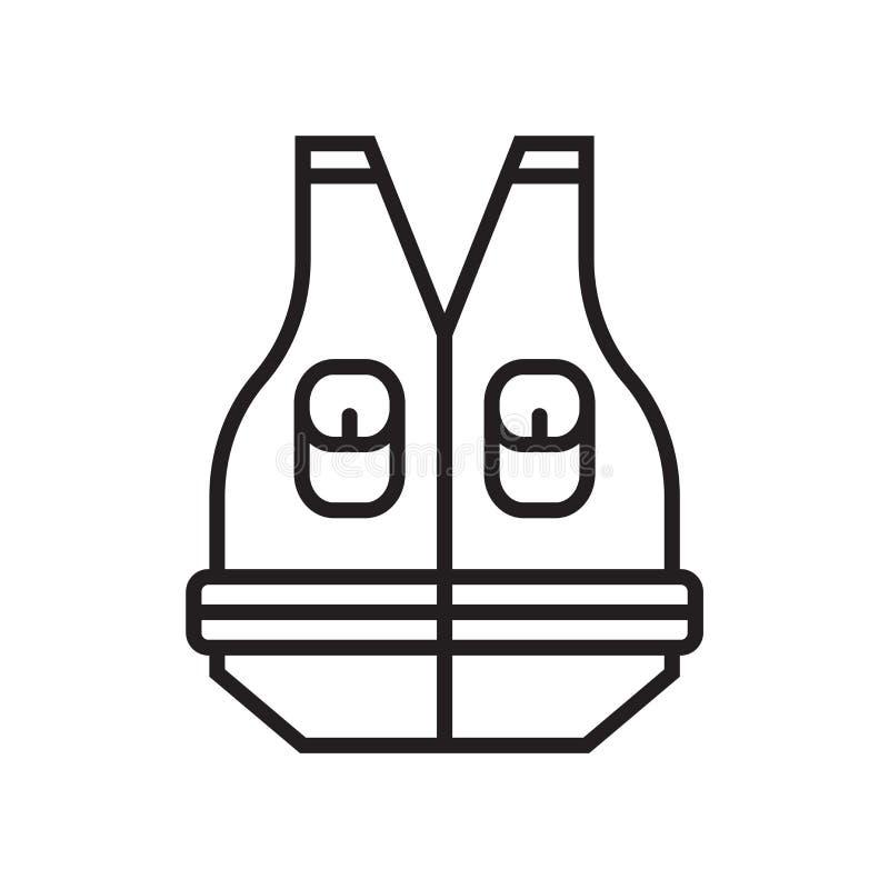 Pescando o sinal e o símbolo do vetor do ícone da veste isolados no fundo branco, pescando o conceito do logotipo da veste ilustração royalty free
