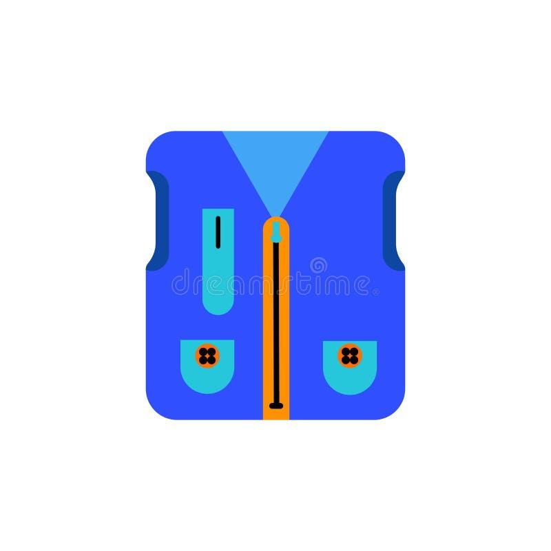 Pescando o sinal e o símbolo do vetor do ícone da veste isolados no fundo branco, pescando o conceito do logotipo da veste ilustração do vetor