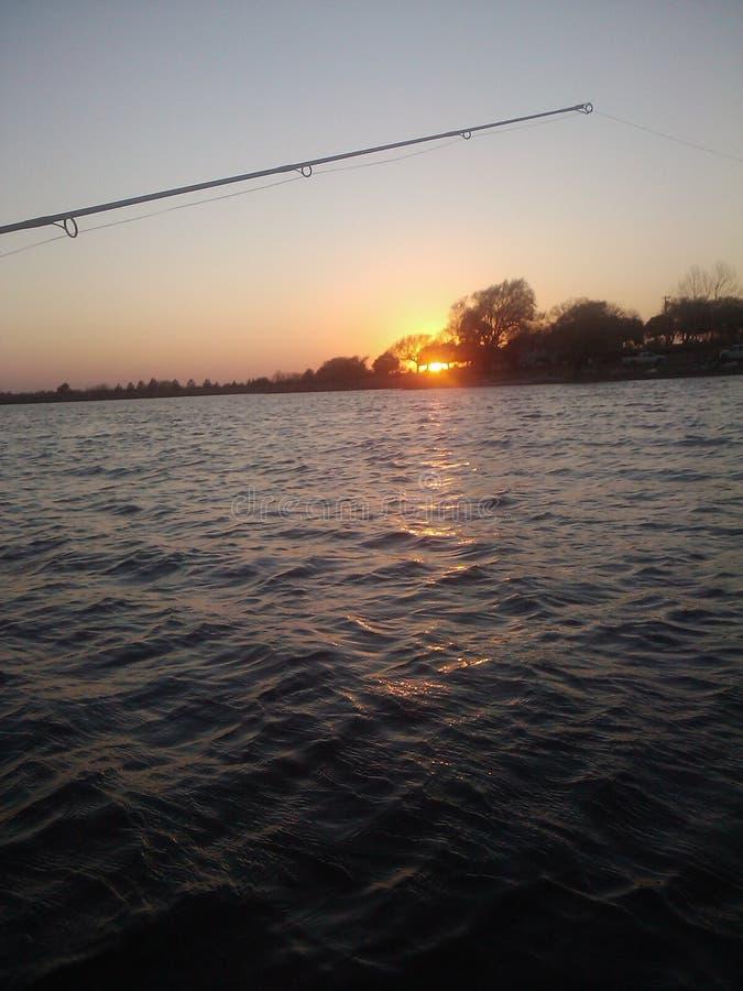 Pescando in Oklahoma fotografia stock libera da diritti