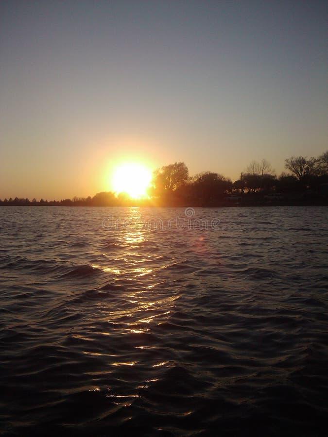 Pescando in Oklahoma fotografie stock libere da diritti