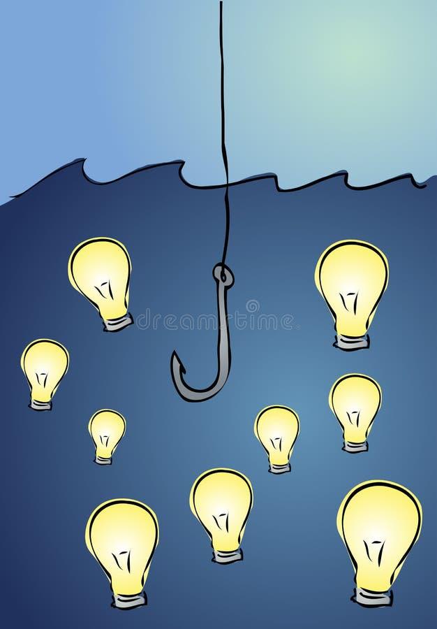 Pescando per le idee illustrazione di stock