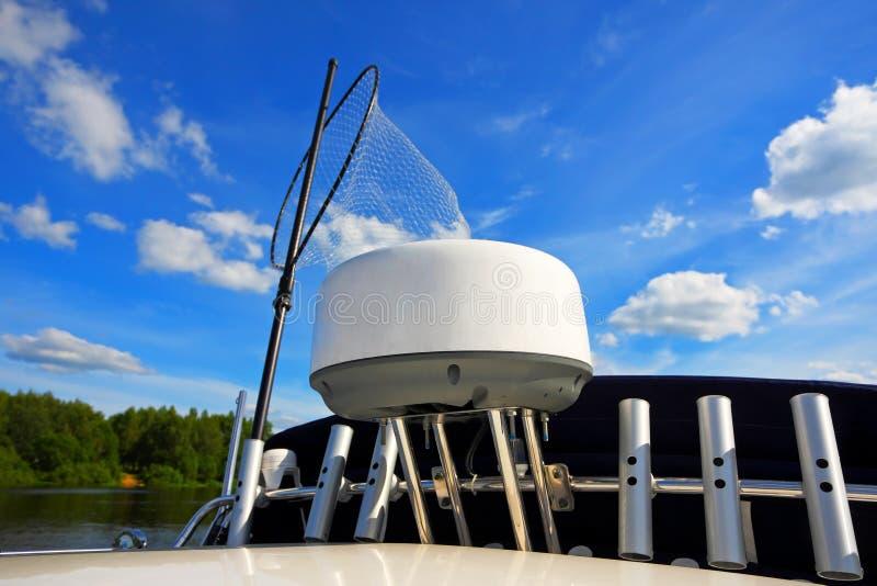 Pescando sulla barca immagine stock libera da diritti