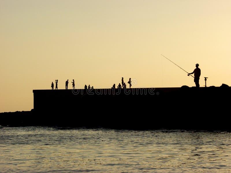 Pescatore fotografia stock