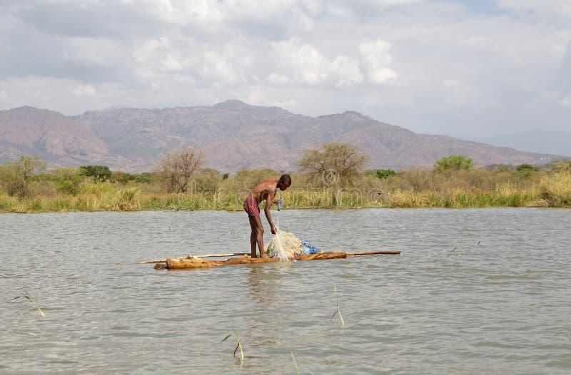 Pescatore africano fotografie stock