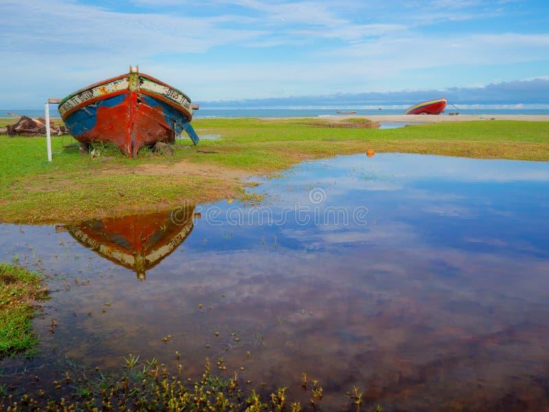 Pescatore della barca immagine stock