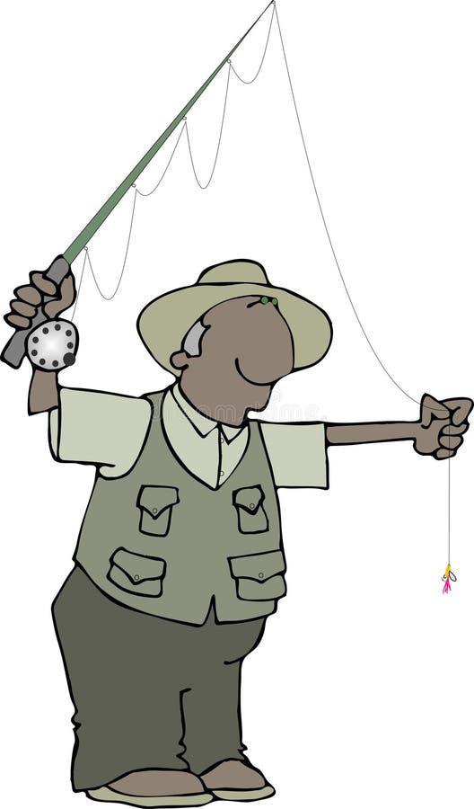 Download Pescatore della mosca illustrazione di stock. Illustrazione di nero - 220280