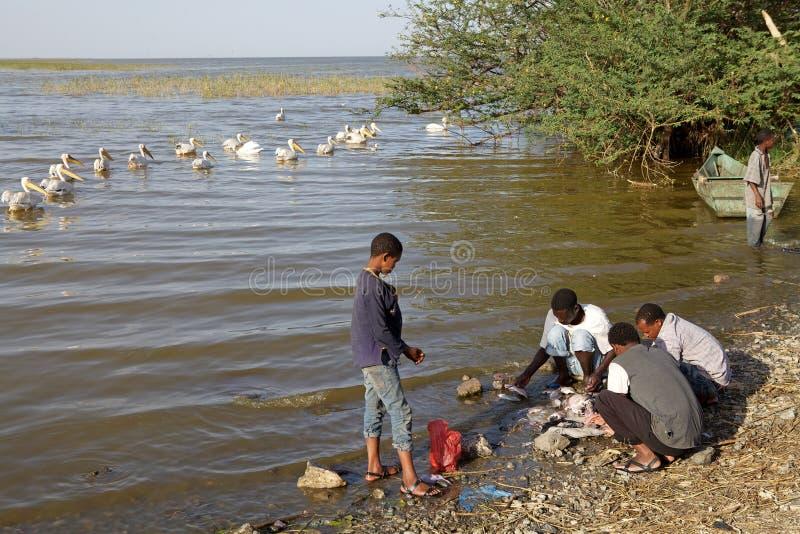 Pescatore etiopico immagine stock libera da diritti