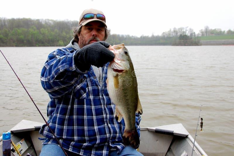 Pescatore freddo fotografia stock libera da diritti