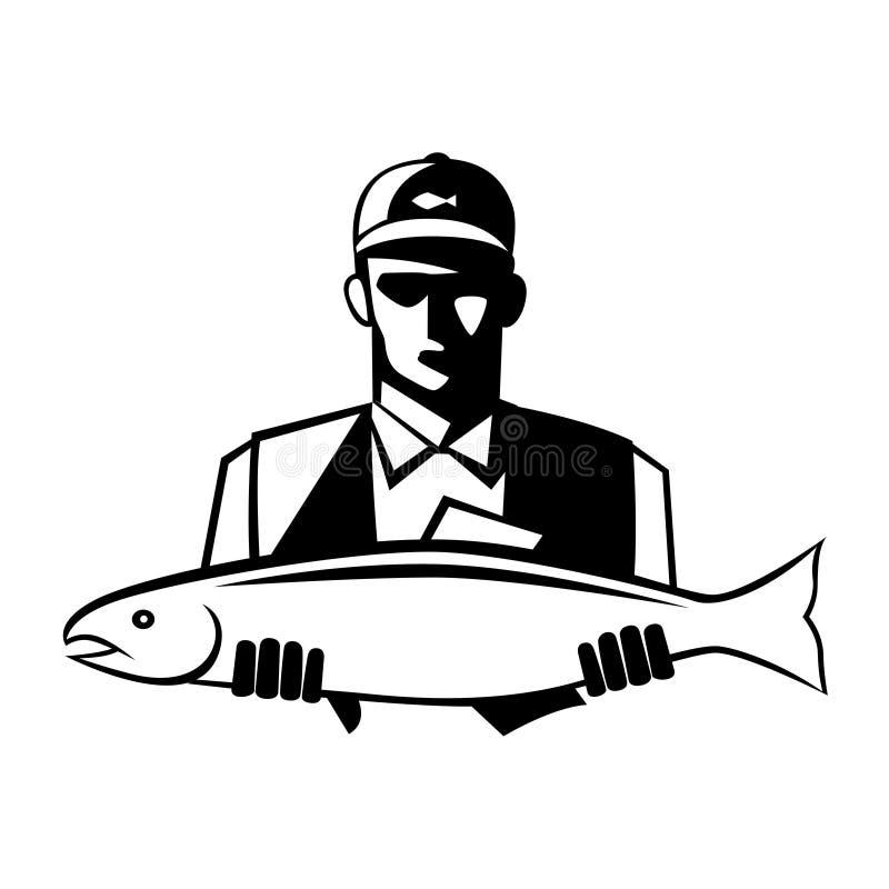 Pescatore grafico illustrazione vettoriale