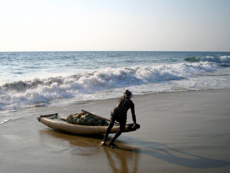 Pescatore indiano fotografie stock libere da diritti