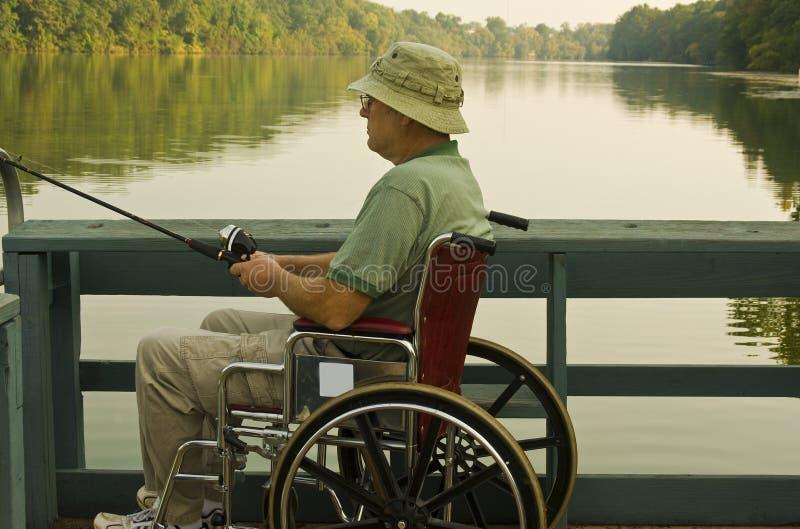 Pescatore invalido fotografie stock libere da diritti