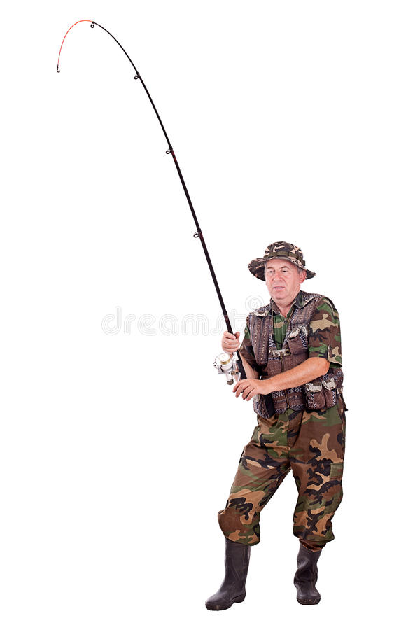 Pescatore maggiore fotografia stock libera da diritti