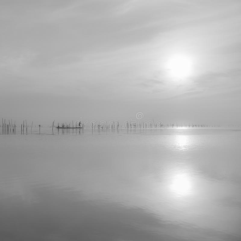 Pescatore minimo fotografia stock