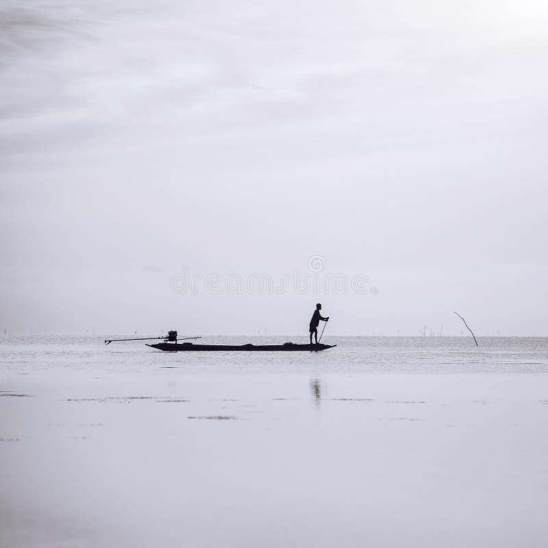 Pescatore minimo immagini stock