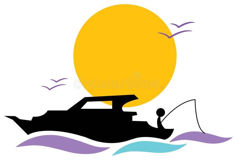 Pescatore pacifico illustrazione vettoriale